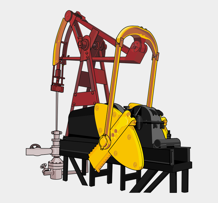industrial clipart, Cartoons - Clipart Of Industry, Production And Industrial - Oil Rig Workers Illustration