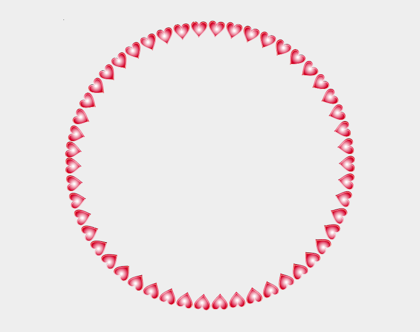 hearts border clipart, Cartoons - Round Transparent Frame Hearts Birthday Frames, Frame - Look Like Their Moving