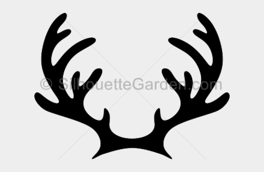 antler clipart, Cartoons - Reindeer Antler And Ears Silhouette