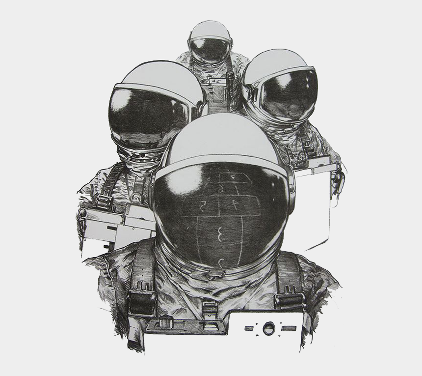 space shuttle clipart black and white, Cartoons - Space Shuttle Clipart Black And White - Astronaut Helmet Drawing Png