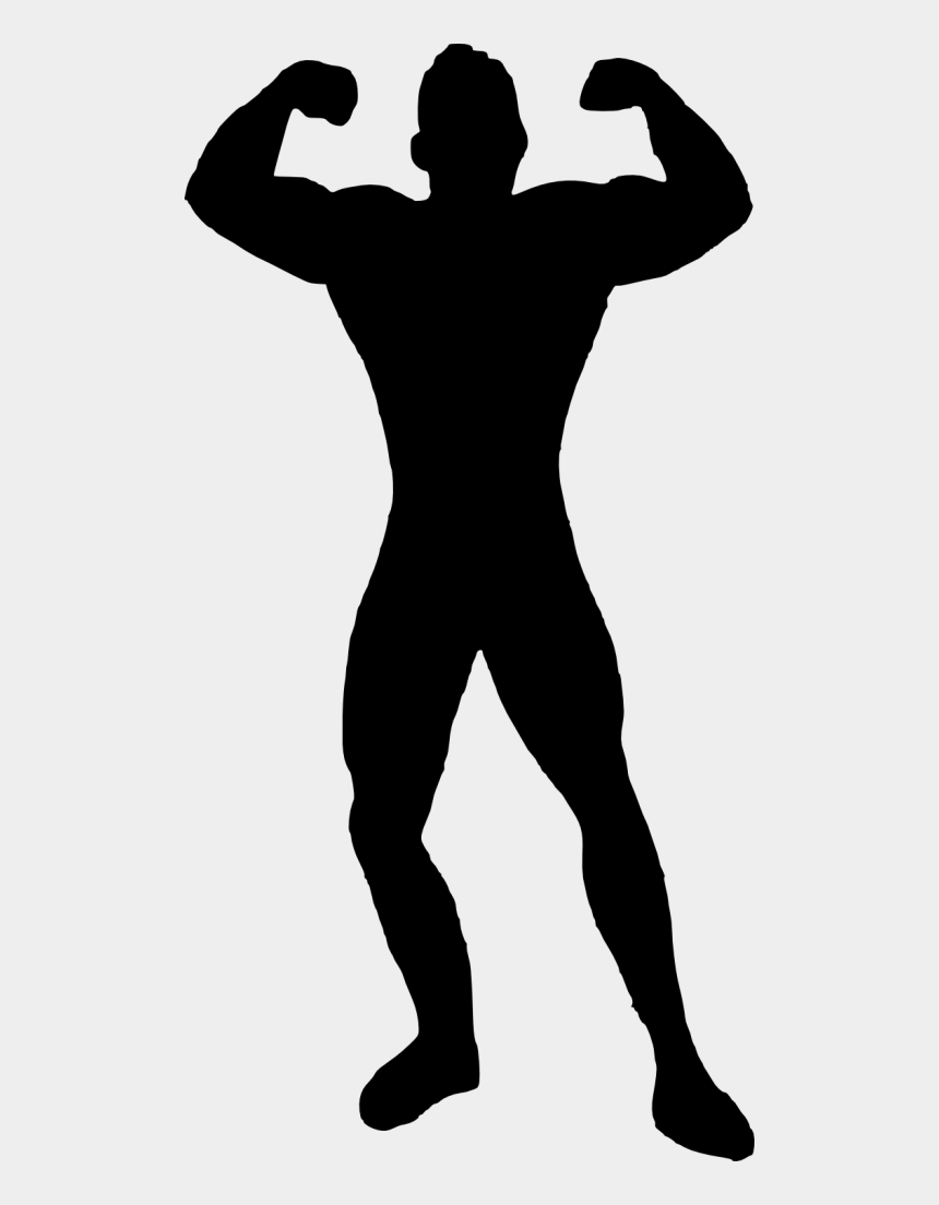 muscle man clipart, Cartoons - Muscle Man Bodybuilder Silhouette - Muscle Man Silhouette Png