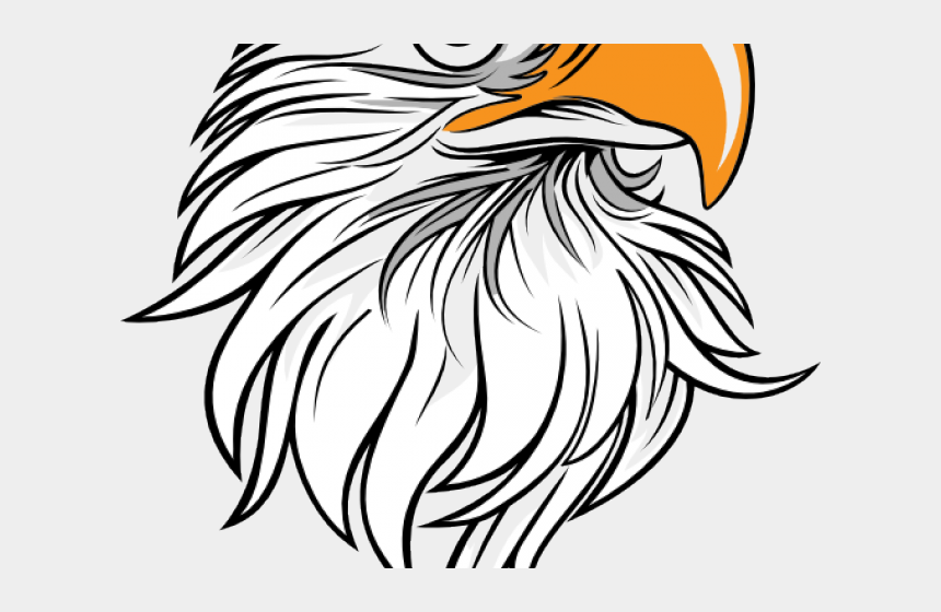 eagle head clipart black and white, Cartoons - Drawn Bald Eagle Large Eagle - Eagle Clipart Black And White