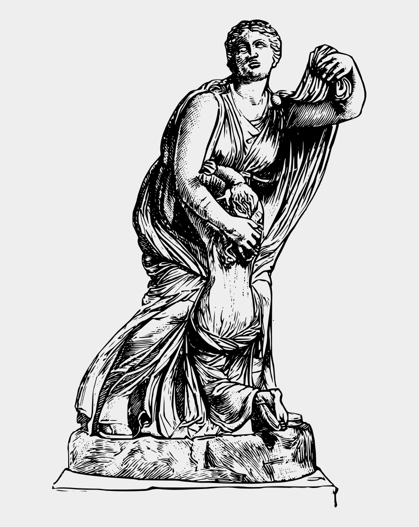 zeus clipart, Cartoons - Statue Of Zeus At Olympia Niobe Greek Mythology Ancient - Greek Statue Clip Art