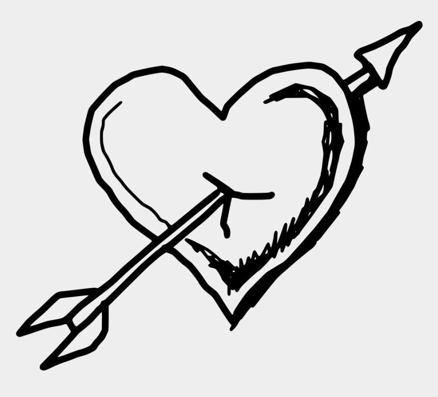 doodle arrow clipart, Cartoons - Drawn Heart Png - Transparent Love Doodle