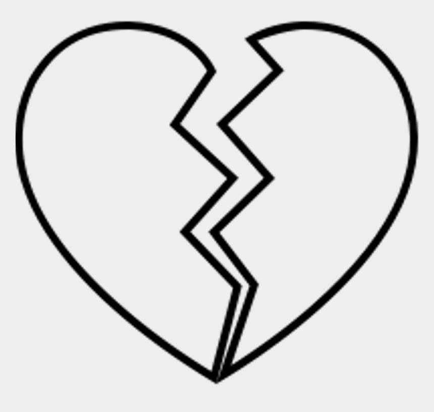 dibujar clipart, Cartoons - Brokenheart Sad Broken Brakeup Depressed Depression - Broken Heart Line Drawing