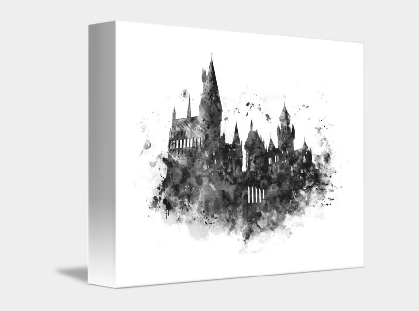 "hogwarts castle clipart, Cartoons - ""hogwarts"" By Monn Print, // Hogwarts Castle, Watercolor, - Harry Potter Castle Drawing"