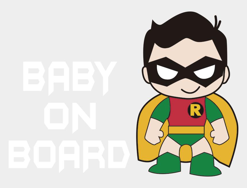batman and robin clipart, Cartoons - Robin Baby On Board Sticker - Robin Bebe