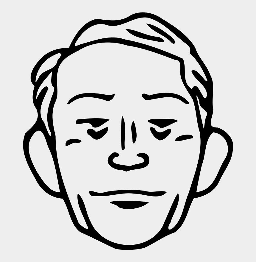 dibujar clipart, Cartoons - Old Man Face Cartoon Drawing