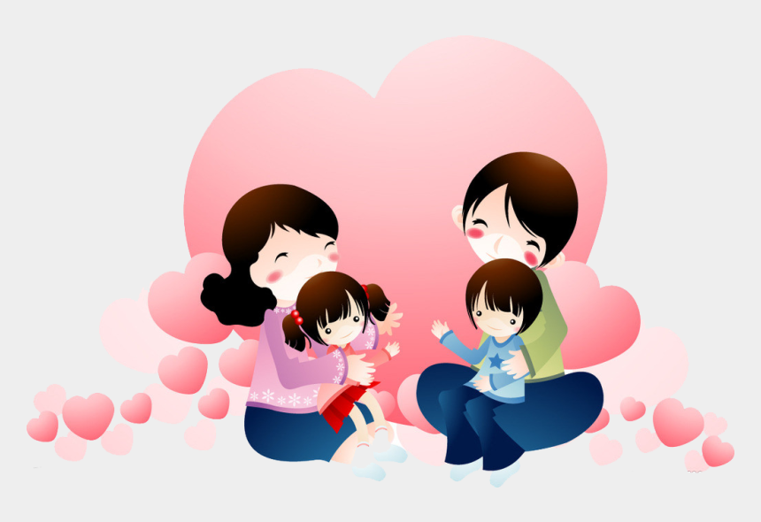 parent and child clipart, Cartoons - Family Happiness Child Between Parents And Full Ⓒ - Happy Family Family Love Clipart