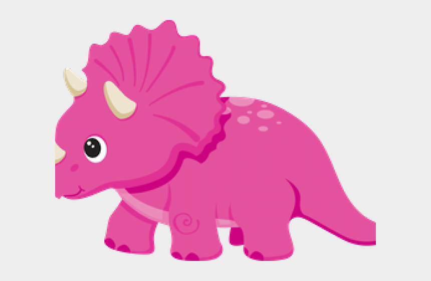 triceratops clipart, Cartoons - Triceratops Clipart Pink - Cute Pink Dinosaur Clipart