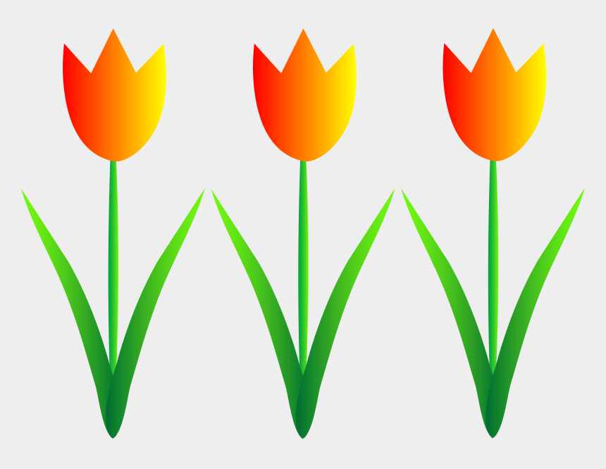 spring flowers clipart, Cartoons - Spring Flowers Clipart - Tulips Clip Art