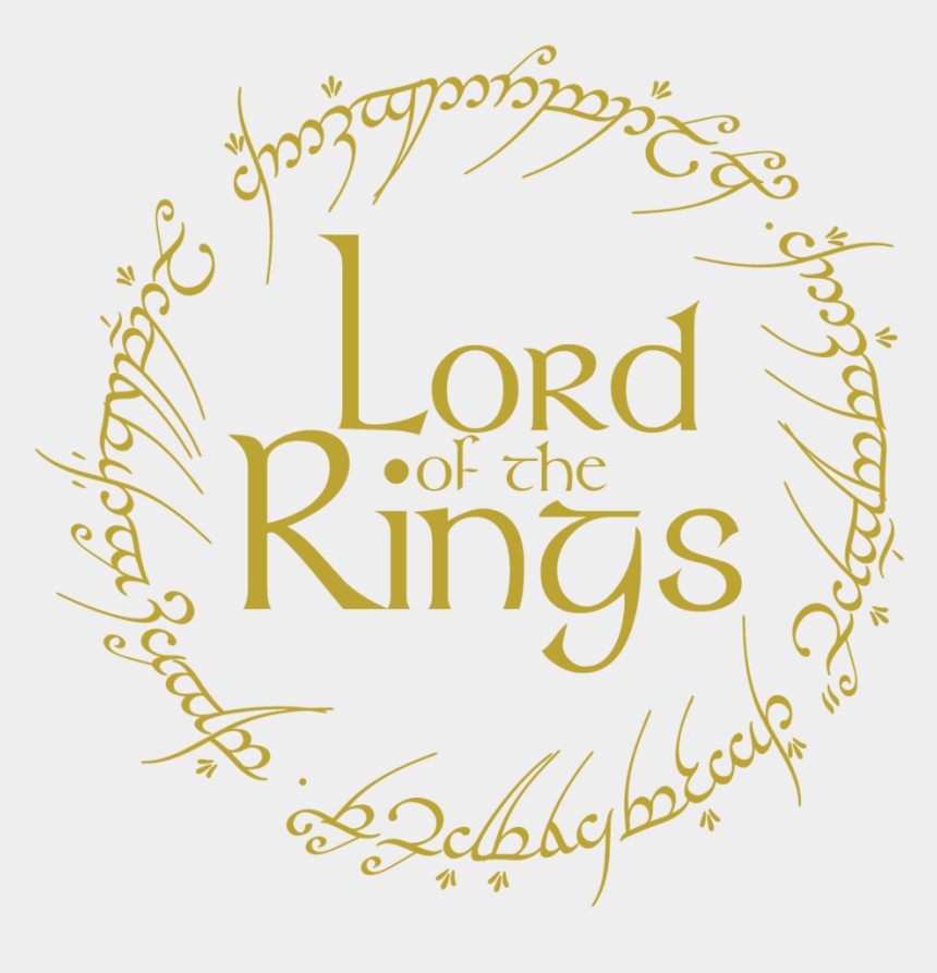 ring clip art, Cartoons - Lord Of The Rings Clipart Logo - Lord Of The Rings Ring Logo