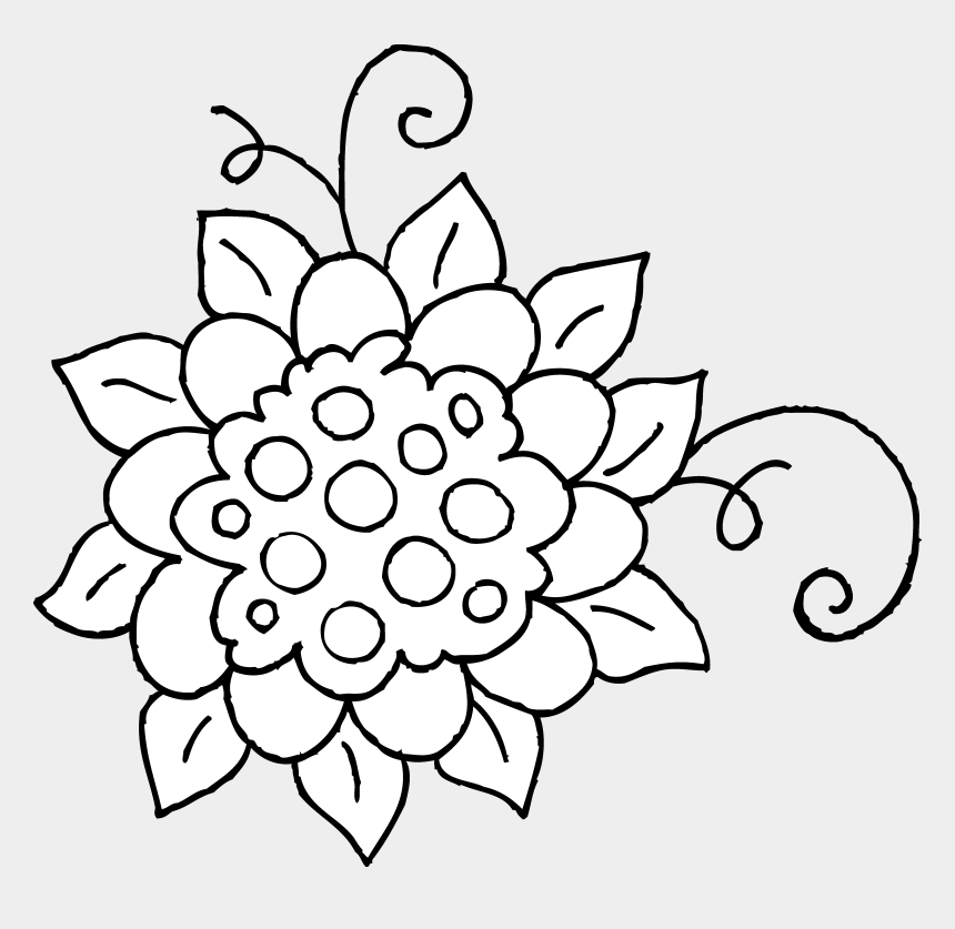 spring flowers clipart, Cartoons - Spring Flowers Clipart Black And White - Springtime Clipart Black And White