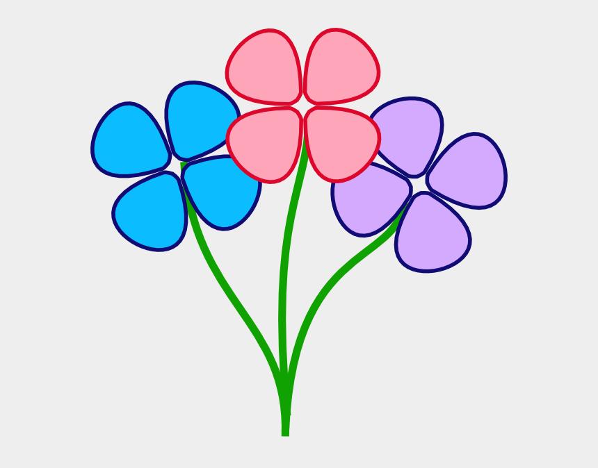 spring flowers clipart, Cartoons - Three Pretty Flowers Clip Art - Clipart Flowers