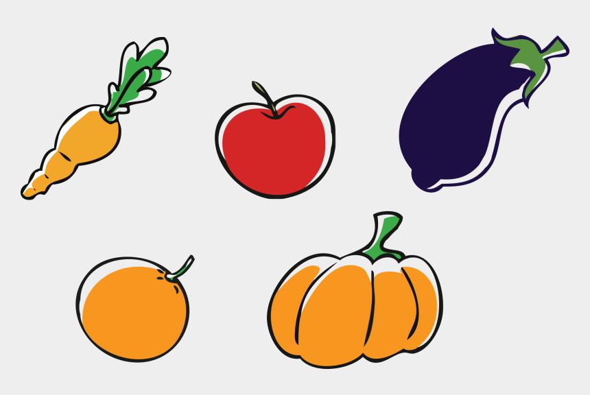 vegetable clipart, Cartoons - Fruit And Veggie Clipart - Dibujos De Frutas Png