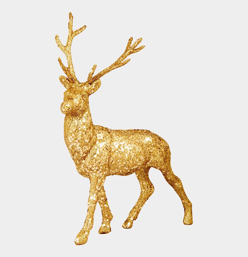 reindeer clip art, Cartoons - Free Christmas Clip Art Illuminated Png Golden Ⓒ - Christmas Reindeer Decoration Png