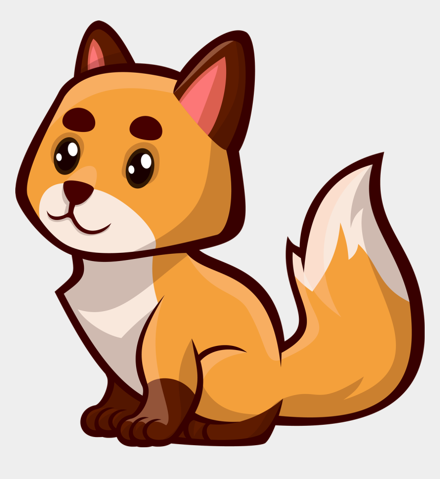 fox clip art, Cartoons - Free Sitting Fox Clip Art - Free To Use Fox