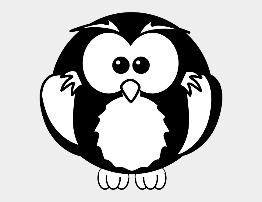 owls clipart, Cartoons - Owl Clipart Black And White - Owl Black And White Png