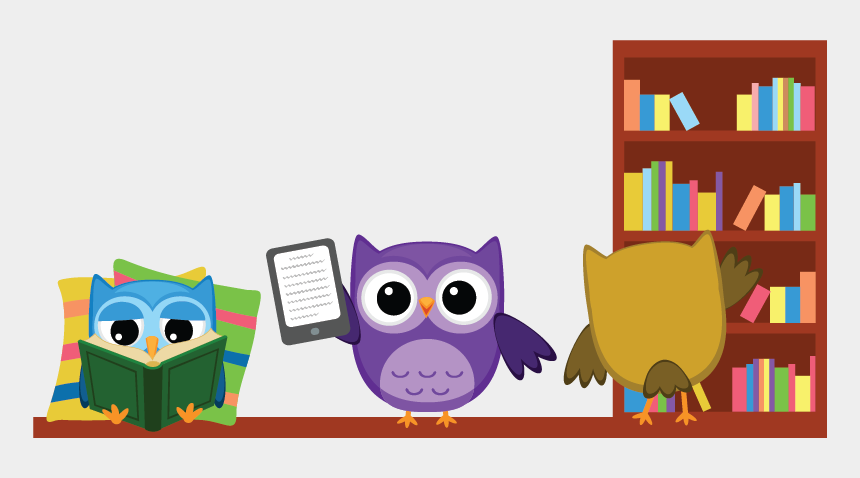 owls clipart, Cartoons - Reading Clipart Owl - Owls Reading And Writing