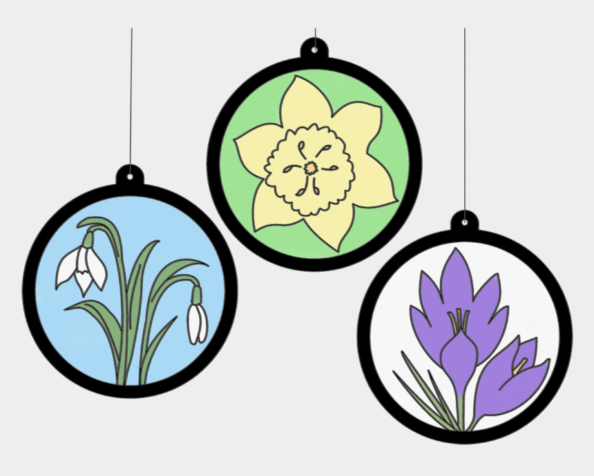 spring flowers clipart, Cartoons - Spring Flowers Light Catchers Clipart , Png Download