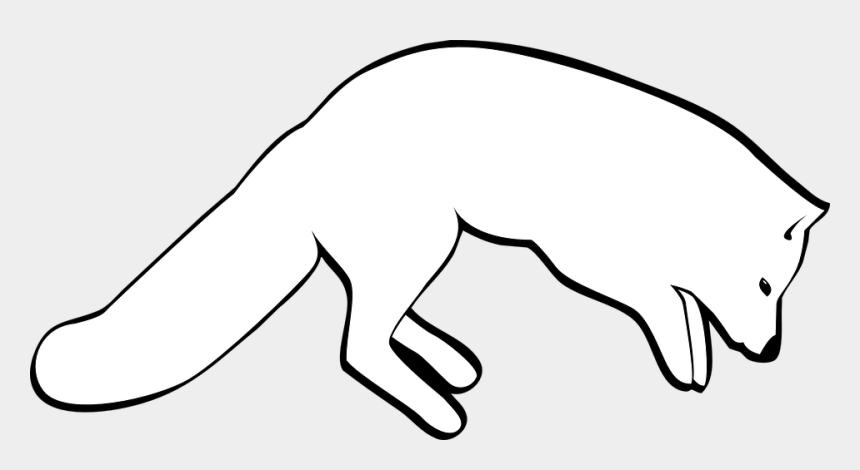 fox clip art, Cartoons - Transparent Black And White Animated Fox