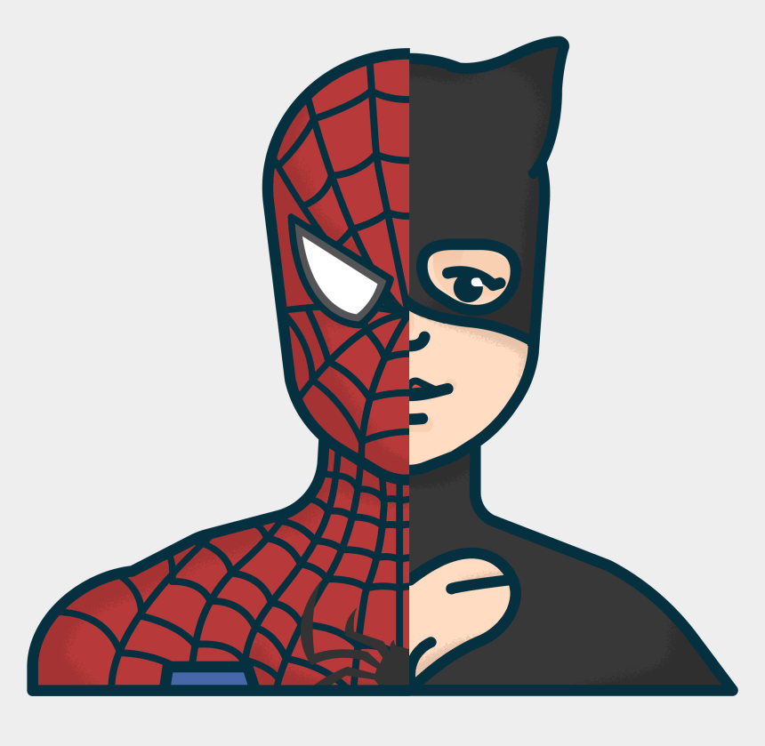 super hero clip art, Cartoons - Superhero Knows To Express Him/her Self Clipart - Spider-man