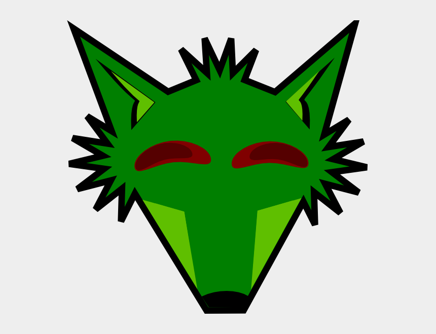 fox clip art, Cartoons - How To Set Use Green Fox Head With Eyes Svg Vector - Fox Face Clipart Black And White