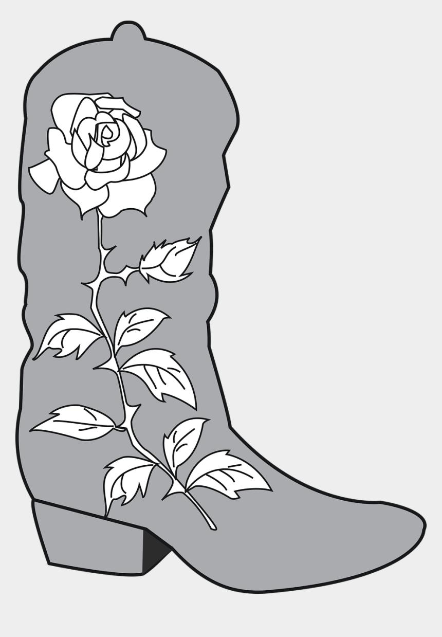 cowboy boots clipart, Cartoons - Cowboy Boot Rose - Cowboy Boot