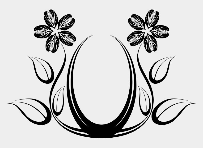 horseshoe clip art, Cartoons - Silhouette Flower Designs At - Line Art Flower Designs