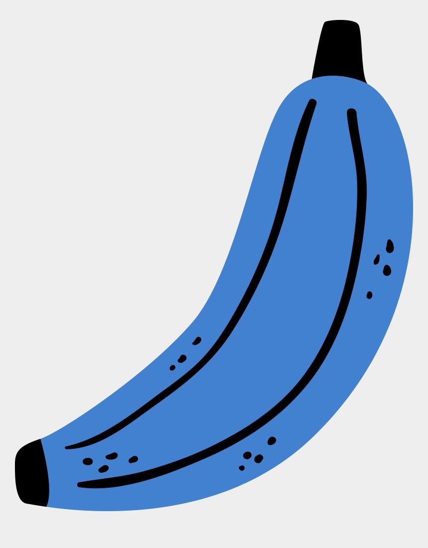 banana clip art, Cartoons - Banana Clip Art Png - Blue Banana Clipart