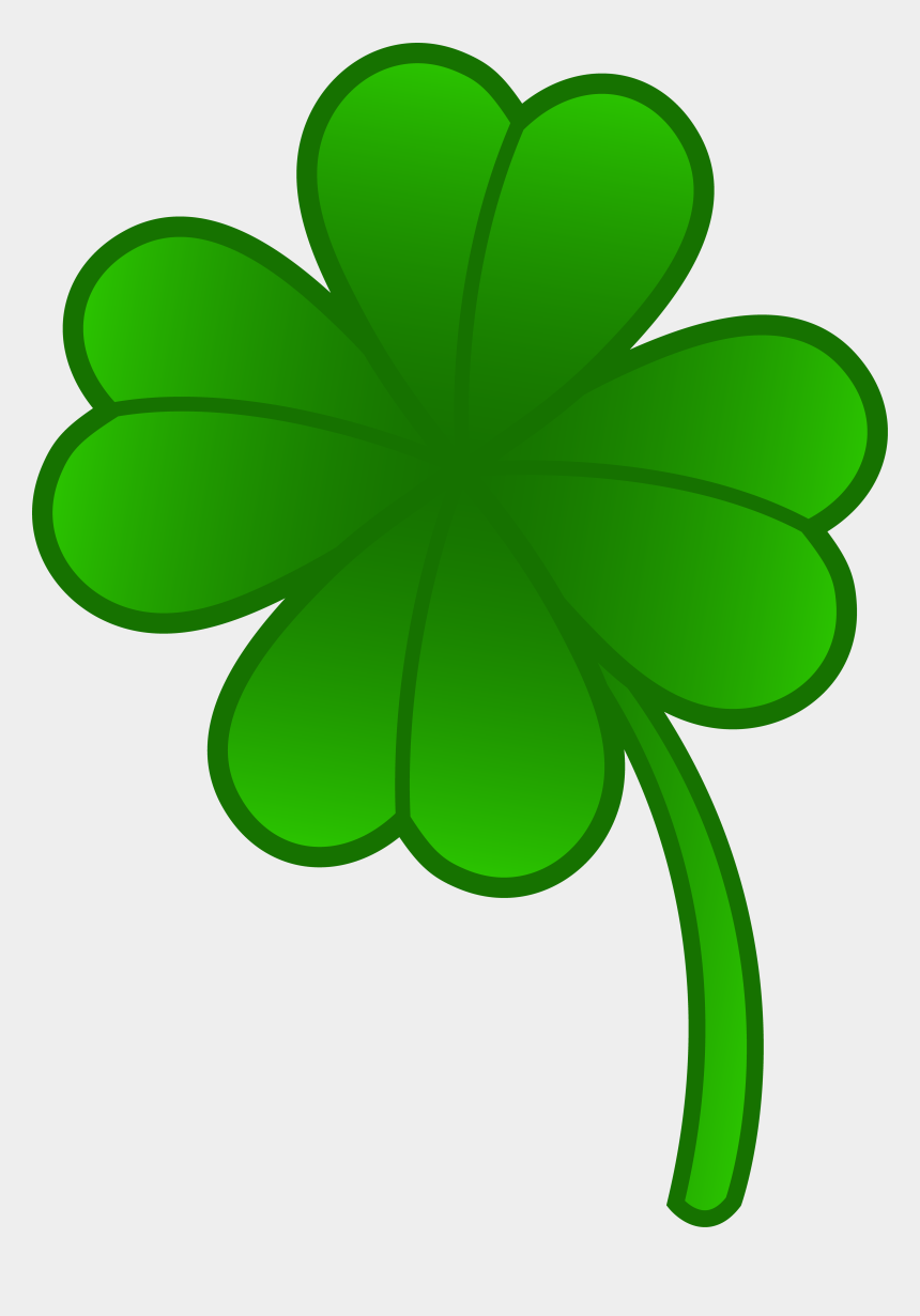 four leaf clover clipart, Cartoons - Green Four Leaf Clover - Four Leaf Clover Clipart