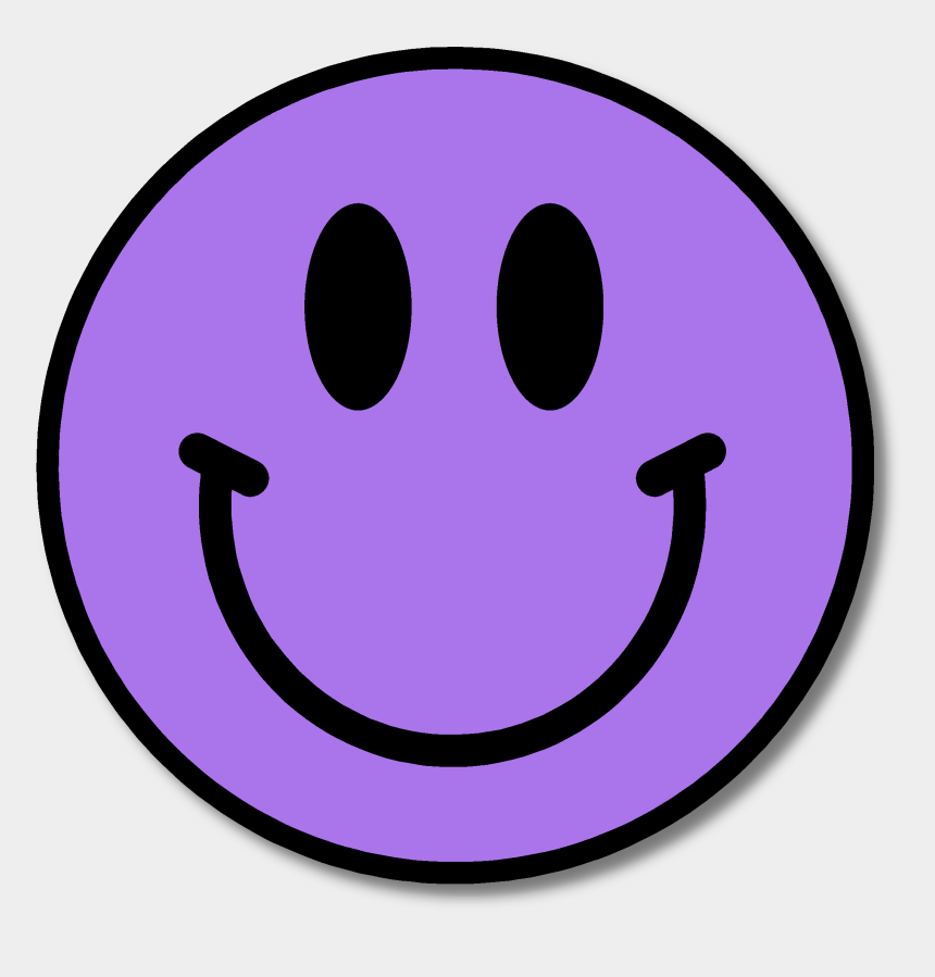 smile clip art, Cartoons - Purple Happy Face Clipart - Smiley Faces In Different Colors