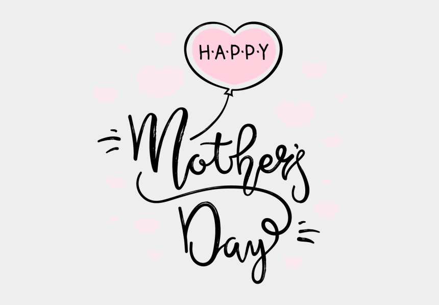 mother's day clipart, Cartoons - Mothers Day Card Png - Lettering Happy Mothers Day