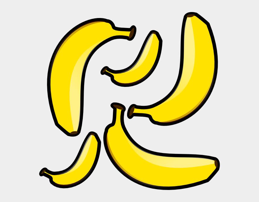 banana clip art, Cartoons - Clipart Of Banana, Banana Of And Banana Is - Five Bananas Clipart