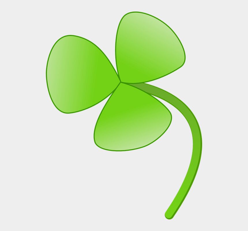 four leaf clover clipart, Cartoons - 4 Leaf Clover Clipart Of Shamrocks And Four Leaf Clovers - Flower With Three Leaves