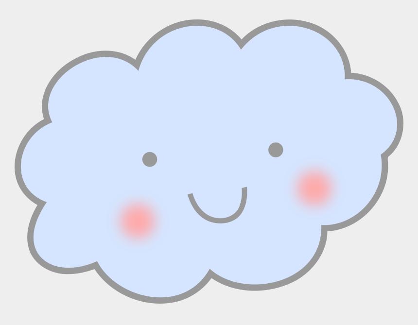 smile clip art, Cartoons - Cloud Clipart Cute Smile - Transparent Background Rain Clipart