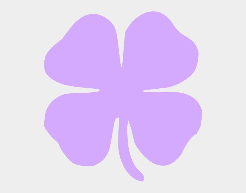 four leaf clover clipart, Cartoons - Purple 4 Leaf Clover