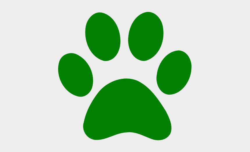 paw print clipart, Cartoons - Green Paw Print Clip Art