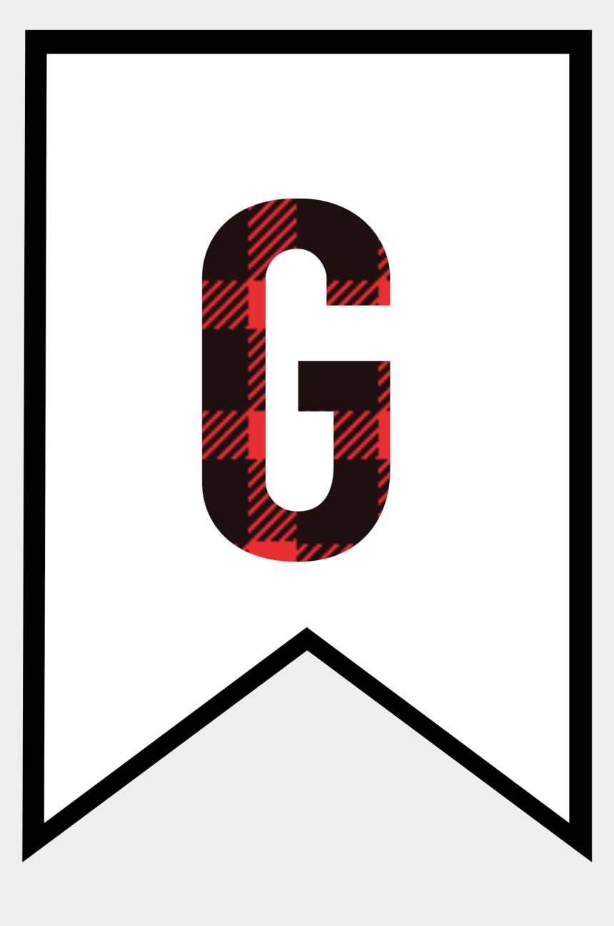 banner clip art, Cartoons - Banner Clip Printable - Free Printable Buffalo Plaid Letters