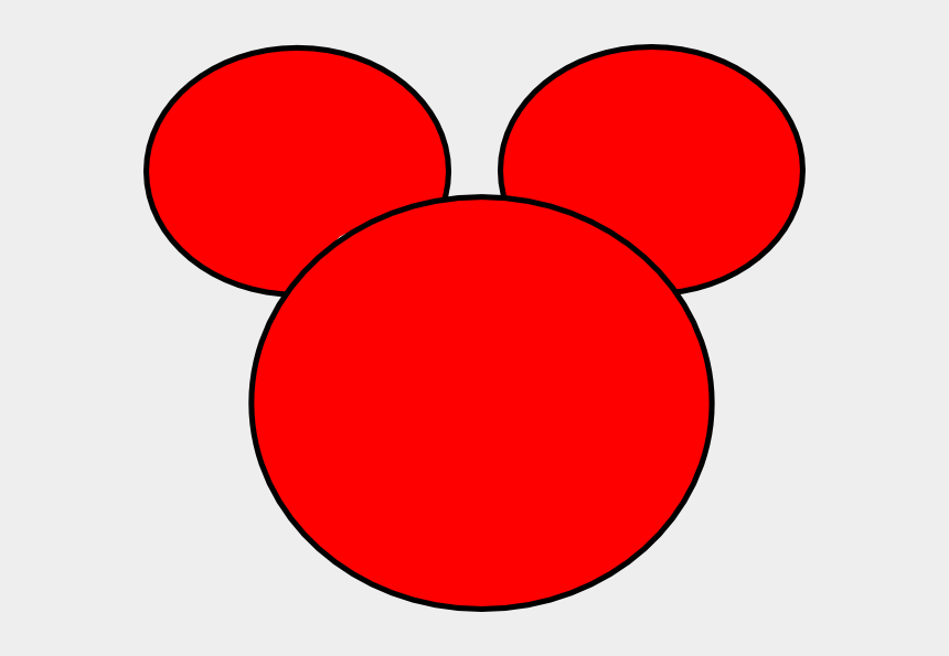 mickey mouse clubhouse clipart, Cartoons - Pix For Mickey Mouse Ears Outline - Mickey Mouse Head Red