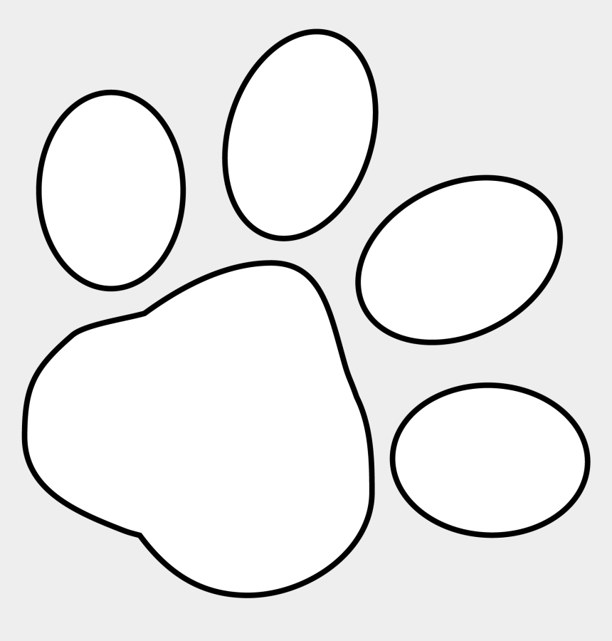 paw print clipart, Cartoons - Paw Print White Png - White Paw Print Clipart