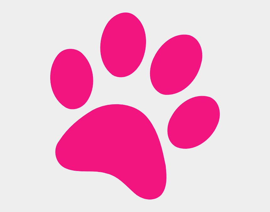 paw print clipart, Cartoons - Pink Clipart Paw Print - Pink Paw Print Clip Art