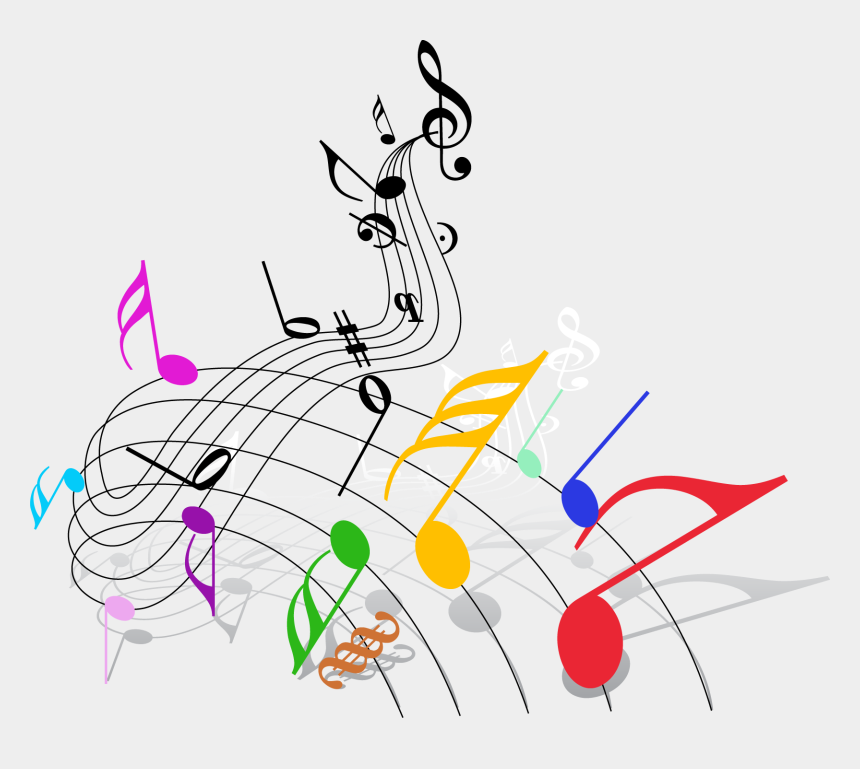 music notes clip art, Cartoons - Musical Note Musical Theatre Clip Art - Colorful Music Notes Png