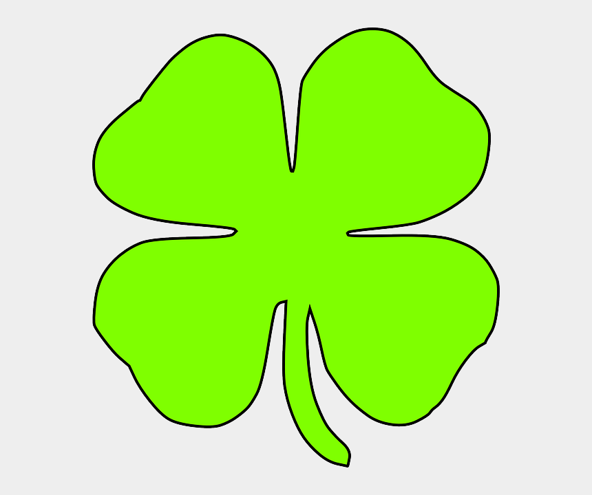four leaf clover clipart, Cartoons - Four Leaf Clover Clipart - Luck Clipart