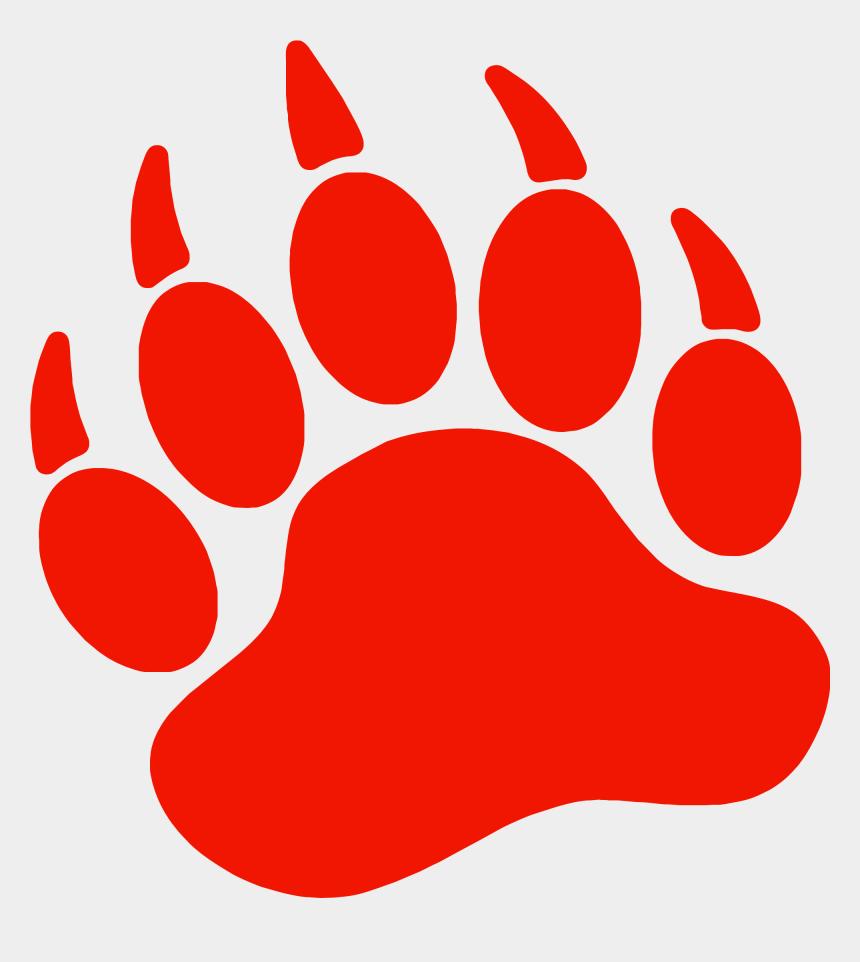 paw print clipart, Cartoons - Bear Paw Dog Printing Clip Art - Red Bear Paw Print