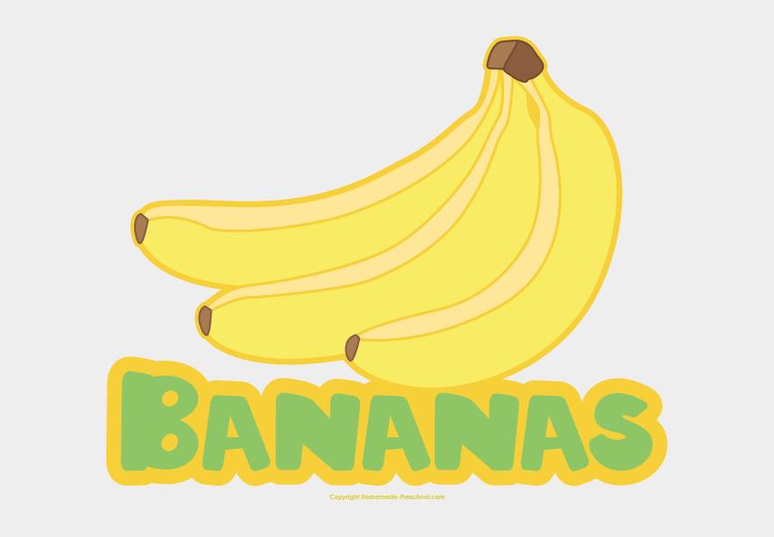 banana clip art, Cartoons - Click To Save Image - Bananas With Name