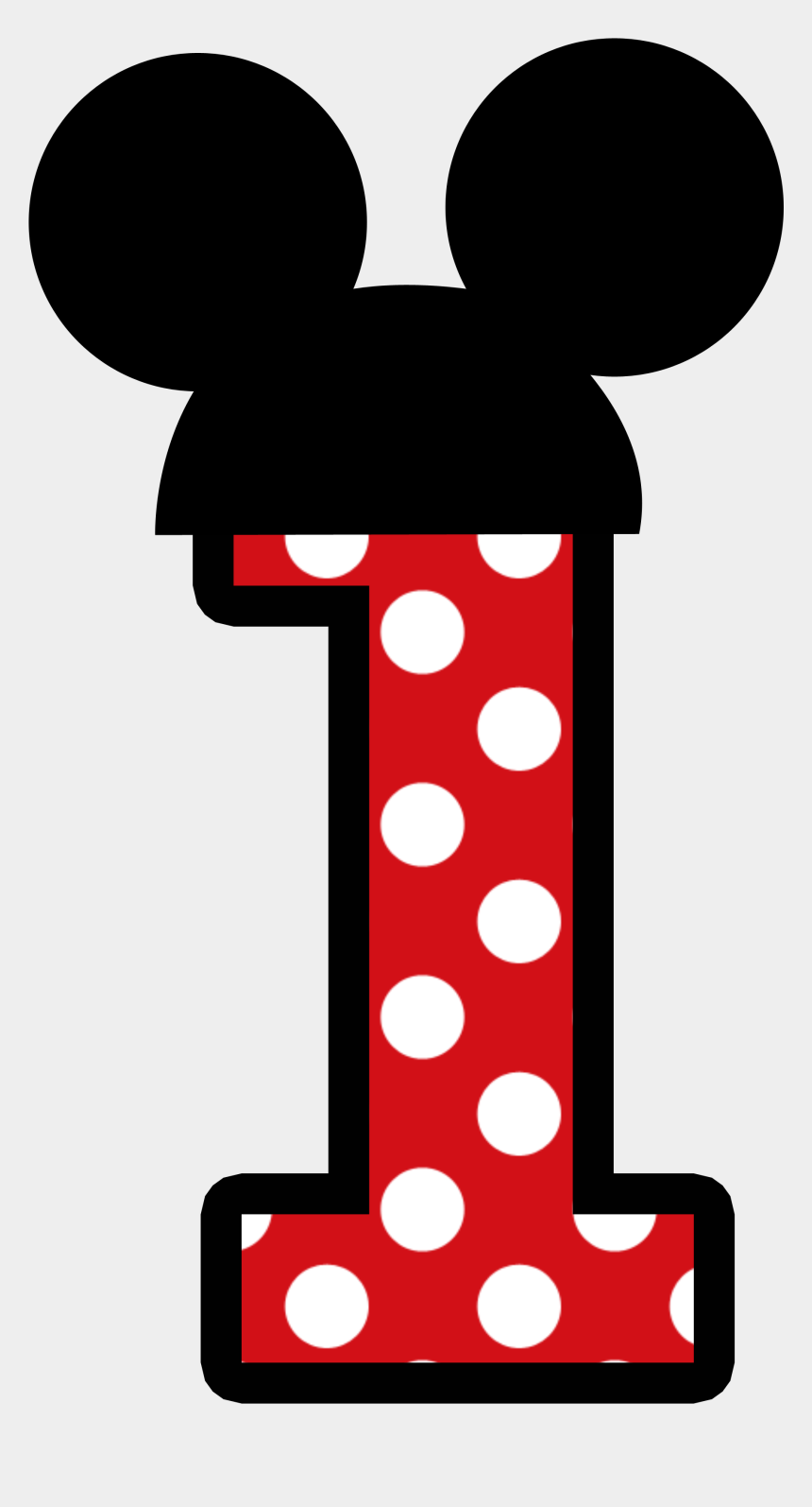 mickey mouse clubhouse clipart, Cartoons - Mickey E Minnie - Mickey Mouse Number 1 Clipart