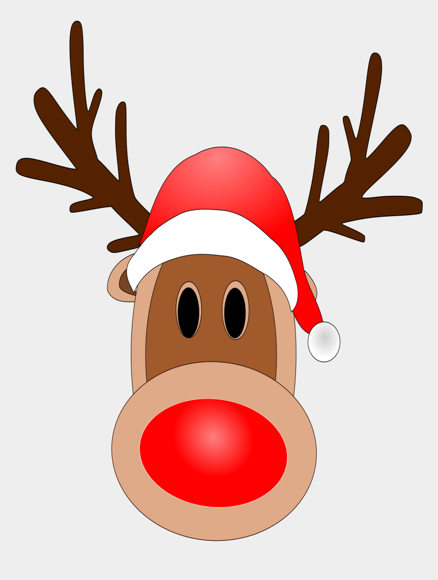 nose clip art, Cartoons - Red Nose Clipart - Clipart Reindeer Red Nose