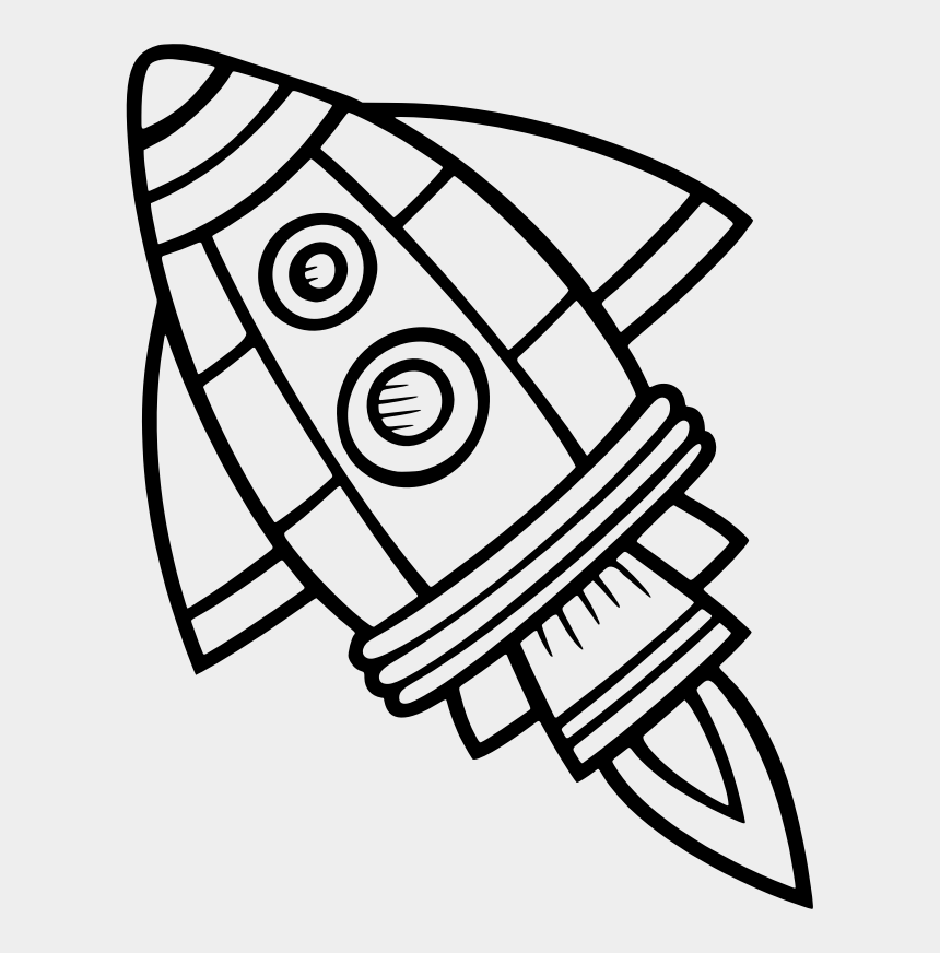 rocket clip art, Cartoons - Rocket Clipart Black And White - Spaceship Clipart Black And White