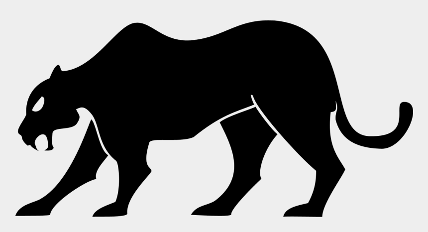 paw print clipart, Cartoons - Black Panther Paw Print Clipart - Black Panther Silhouette
